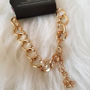 Paparazzi Gold Diamond Twist Chain